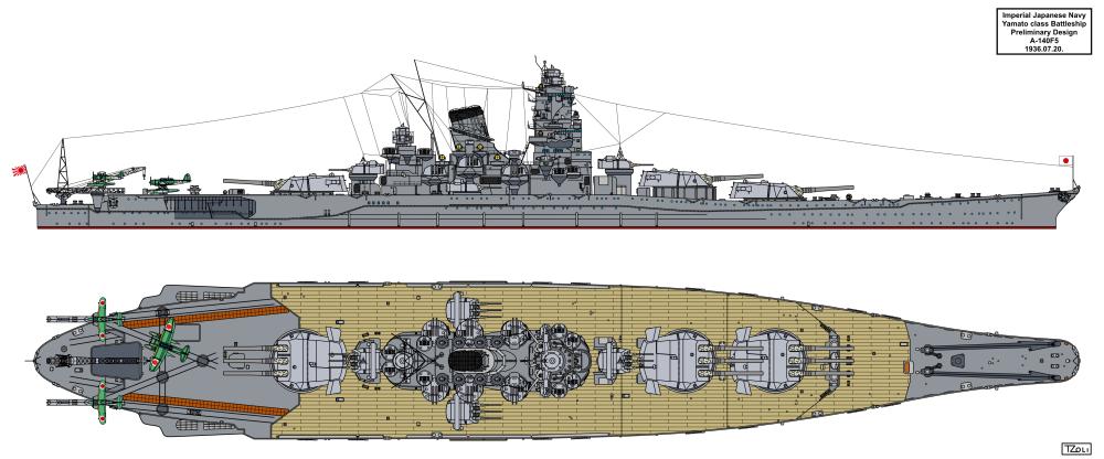 Les projets de bateaux de l'axe(toutes marques et toutes échelles confondues). - Page 6 Yamato-a-140f5